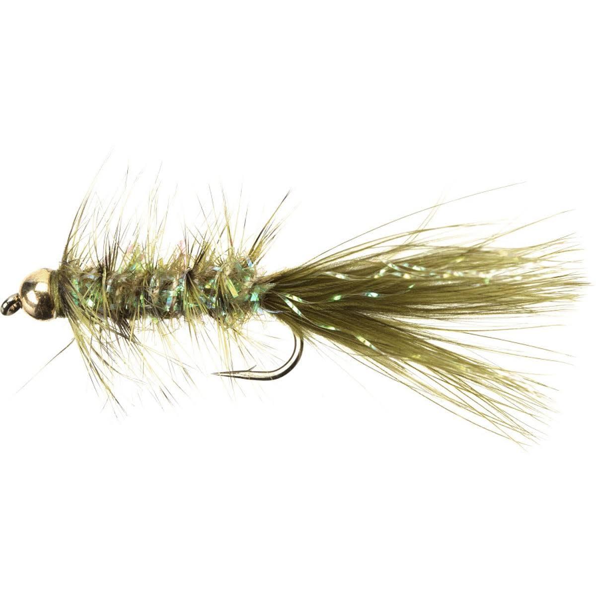 Umpqua Gold Bead Crystal Bugger - 2 - Pack Copper Brown, 8