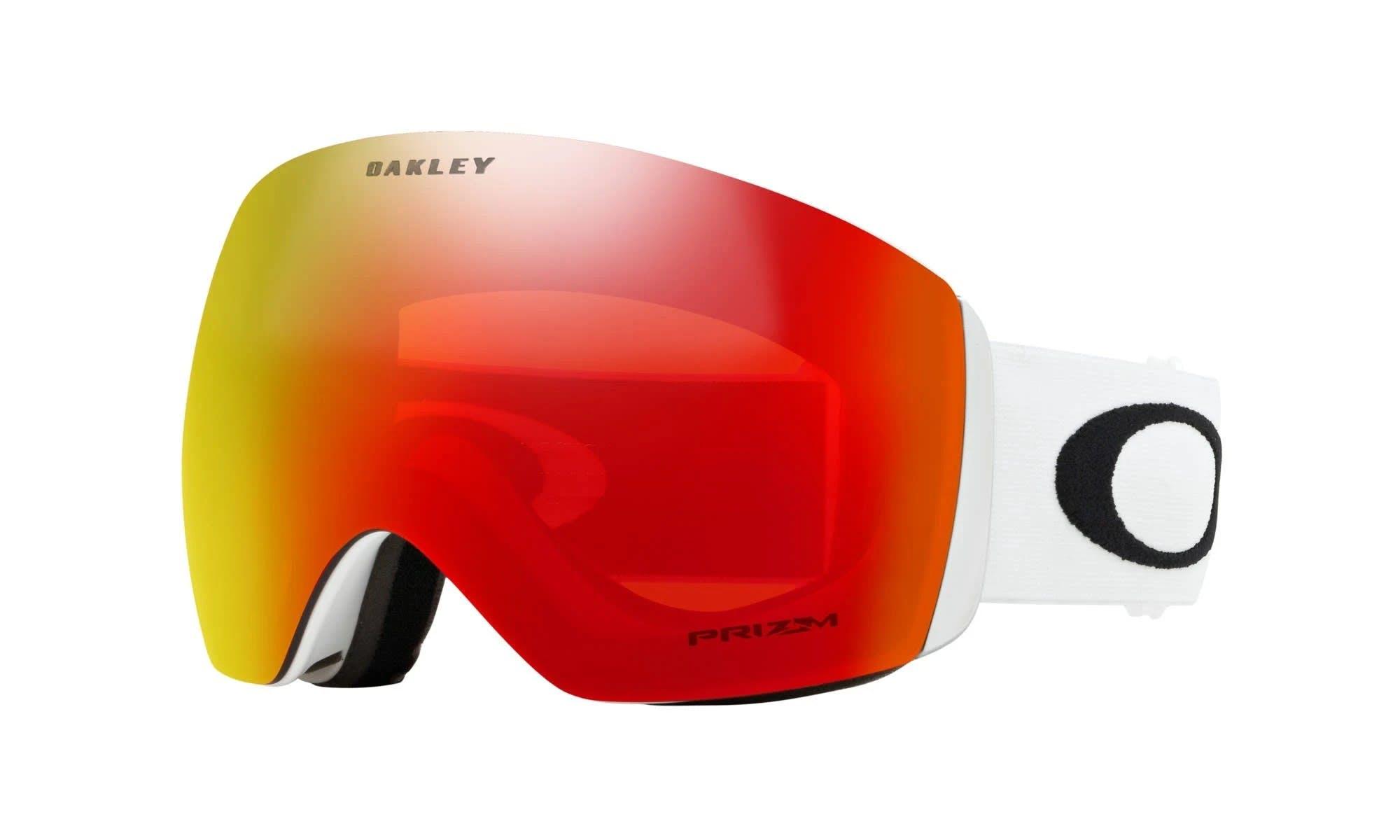Oakley Flight Deck Goggles-matte White; Prizm Torch Iridium