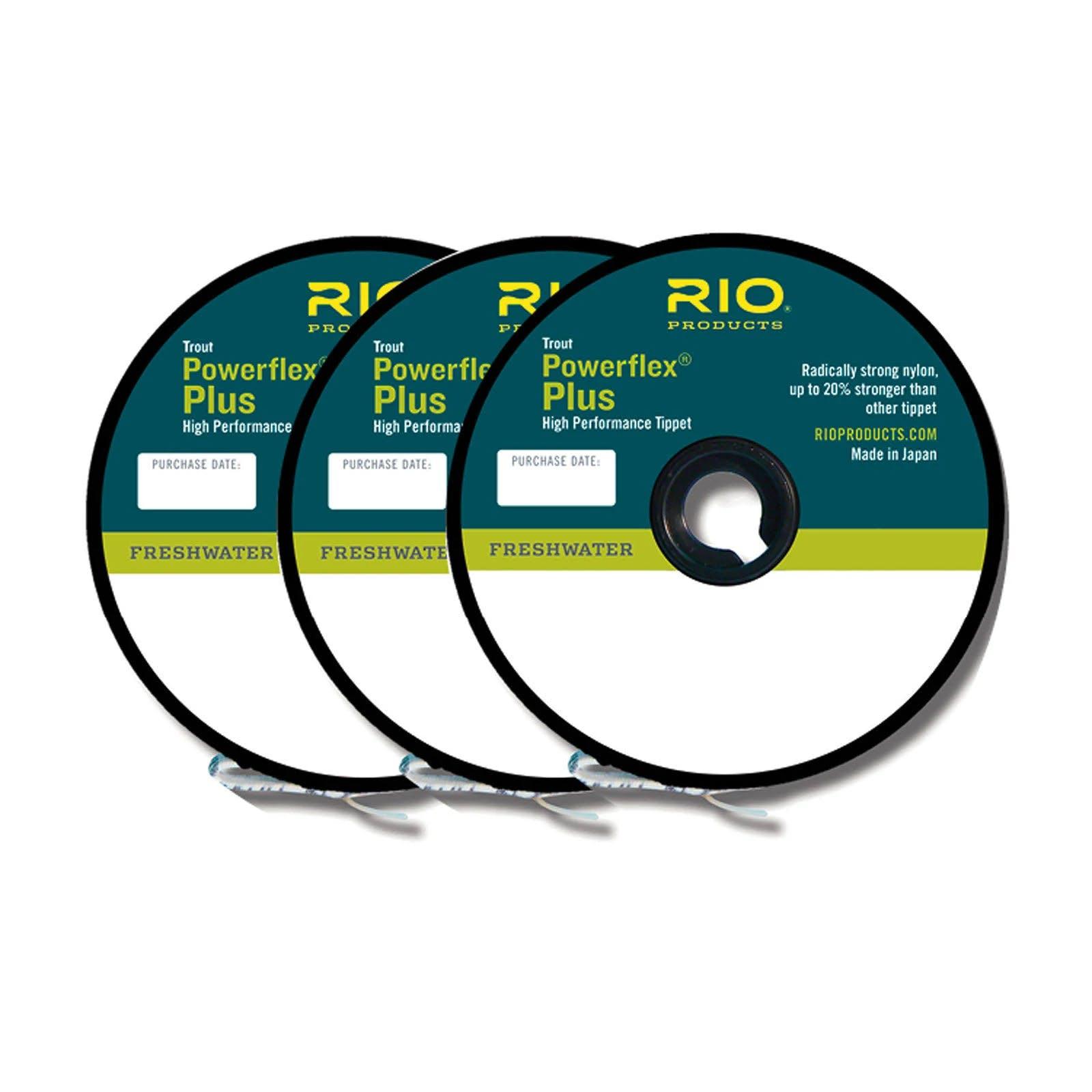 Rio Powerflex Plus Tippet 3 Pack 0X-2X