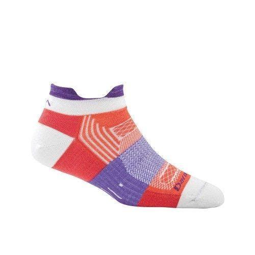 Darn Tough Women's Pulse No Show Tab Light Socks in Coral, Nylon, Size Large