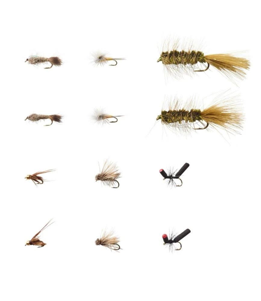 Umpqua 12-Piece Eastern Trout Fly Selection Multi Color