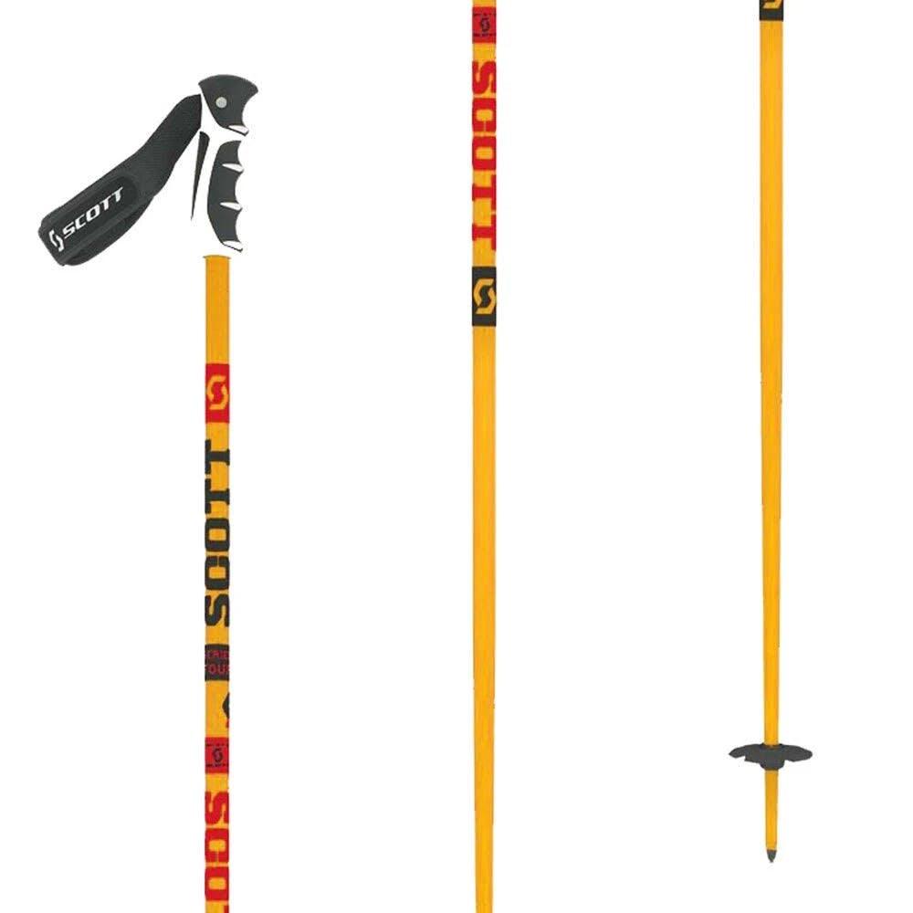 Scott Team Issue Orange Ski Poles 38in