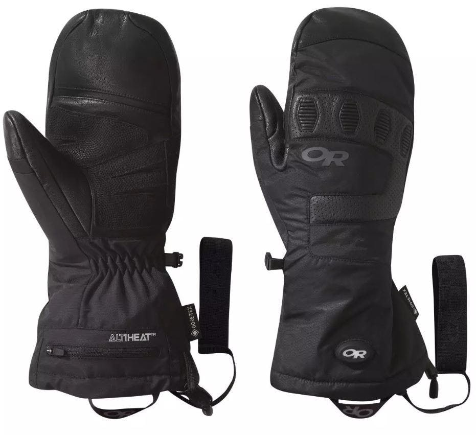 Outdoor Research Lucent Heated Snsr Mitt X-small Black