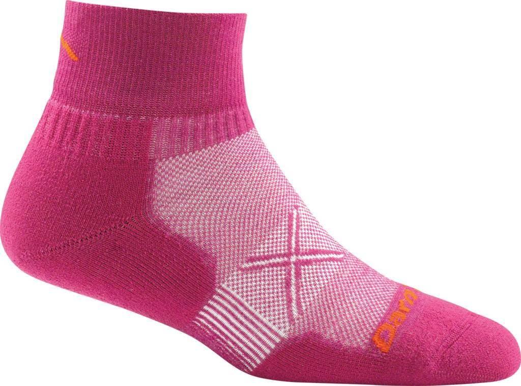 Darn Tough Women's Vertex 1/4 Ultralight Cushion Socks in Boysenberry, Size Large