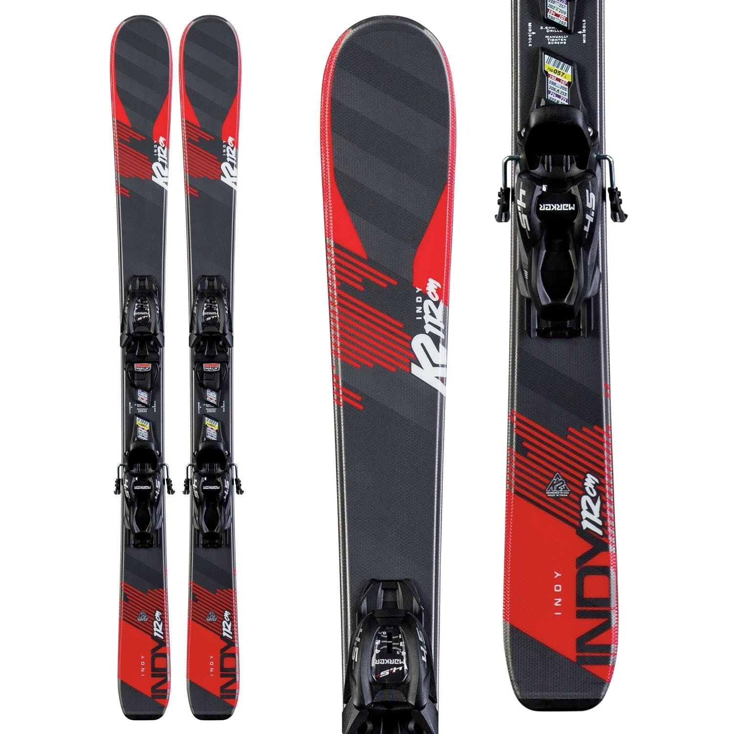 K2 Indy Kids Skis with FDT 4.5 Bindings · 2020