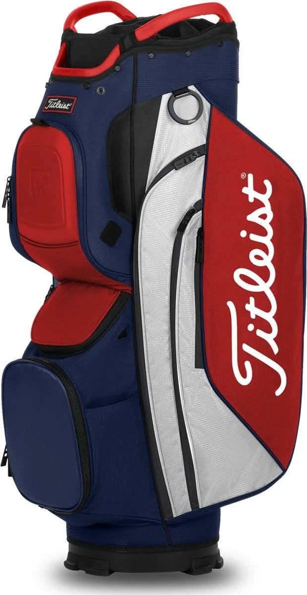 Titleist 15 Cart Bag, Navy/White/Red