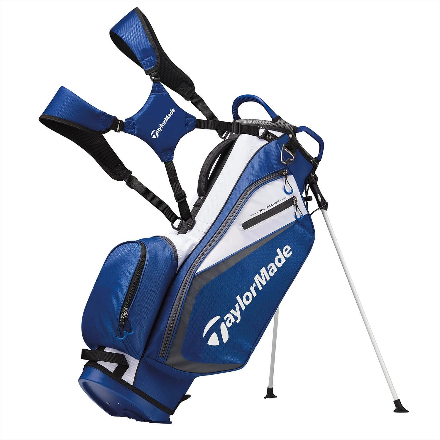 TaylorMade Select Stand Bag, Blue/White