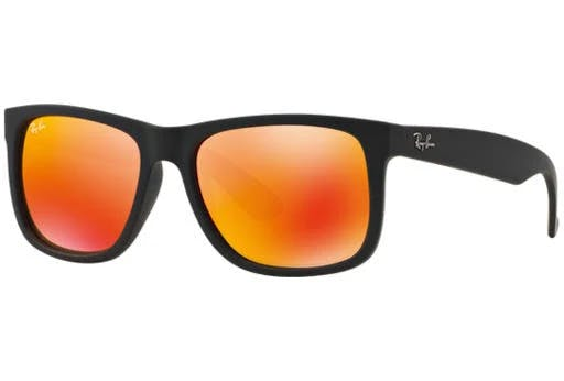 Ray-Ban RB4165-622/6Q Justin Color Mix Sunglasses - Black Frame/Red Mirror Lens - 55mm