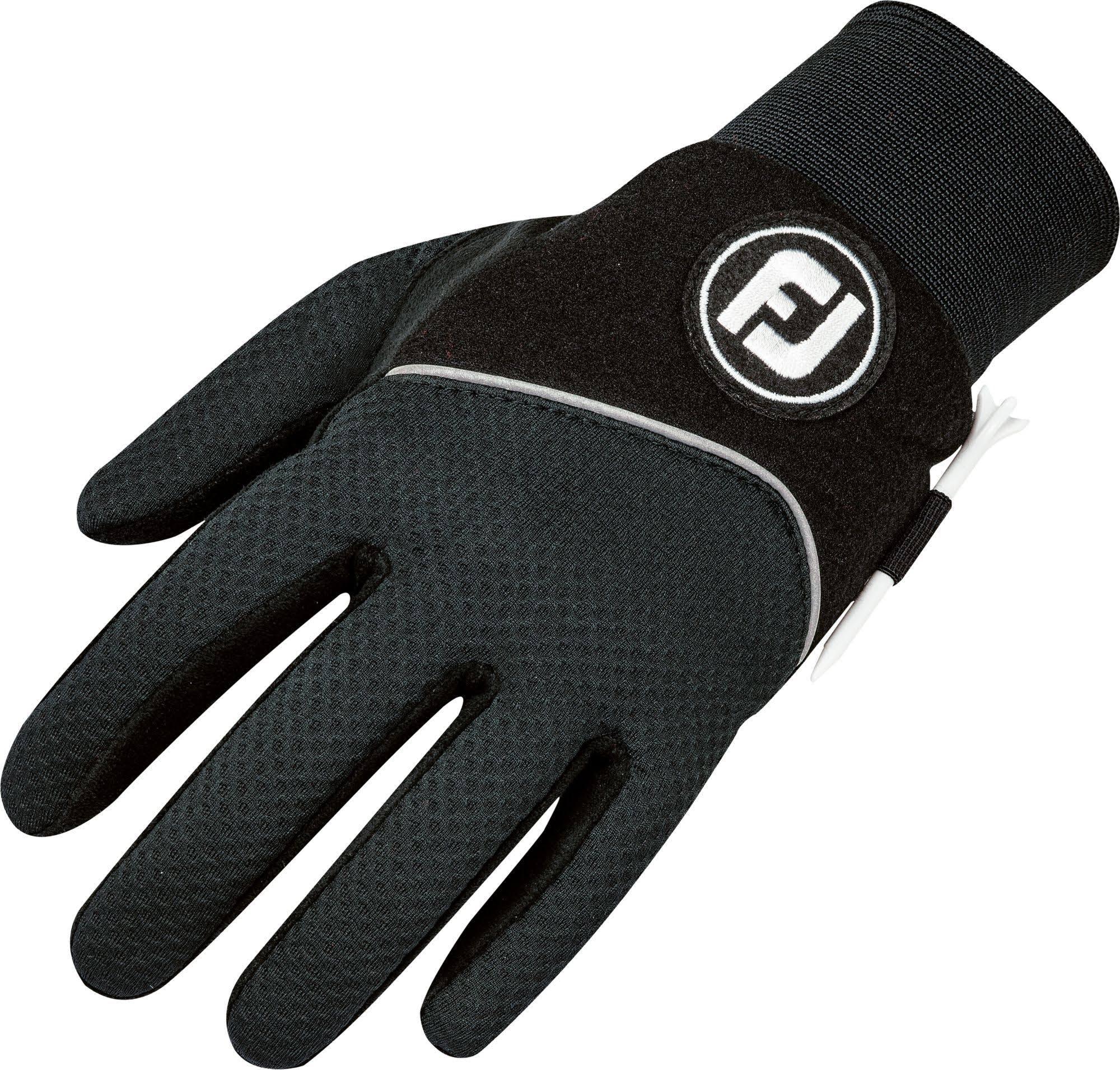 FootJoy Men's WinterSof Golf Gloves, Pair (Black)