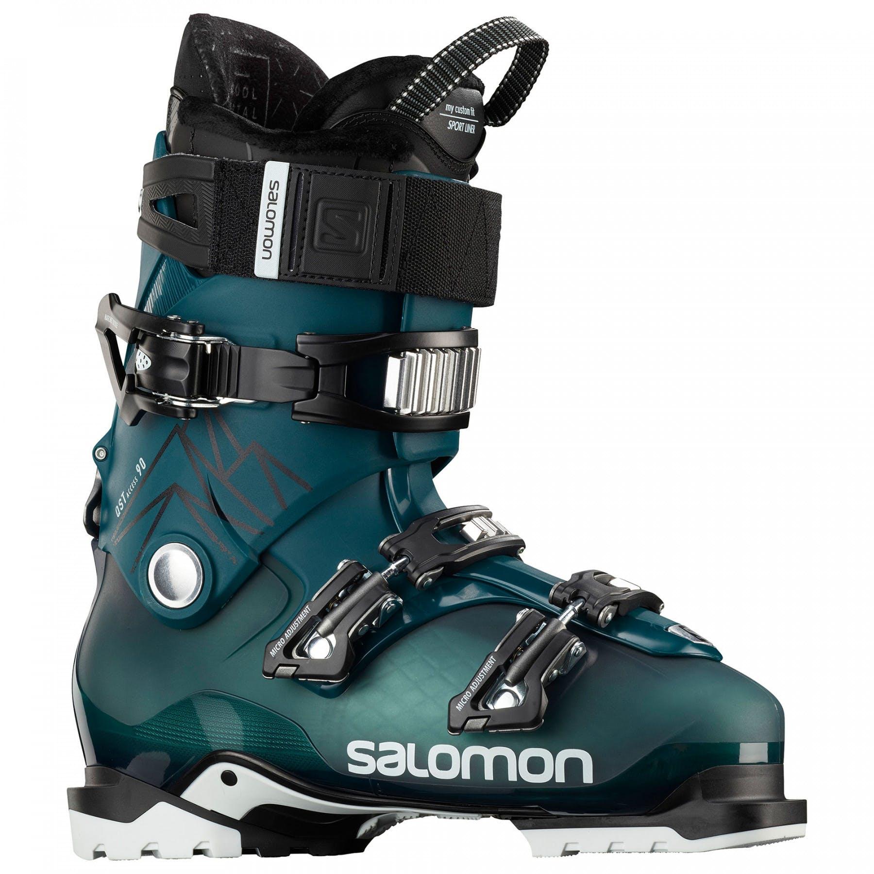 Salomon QST Access 90 Ski Boots 29.5 Marrocan Blue Black