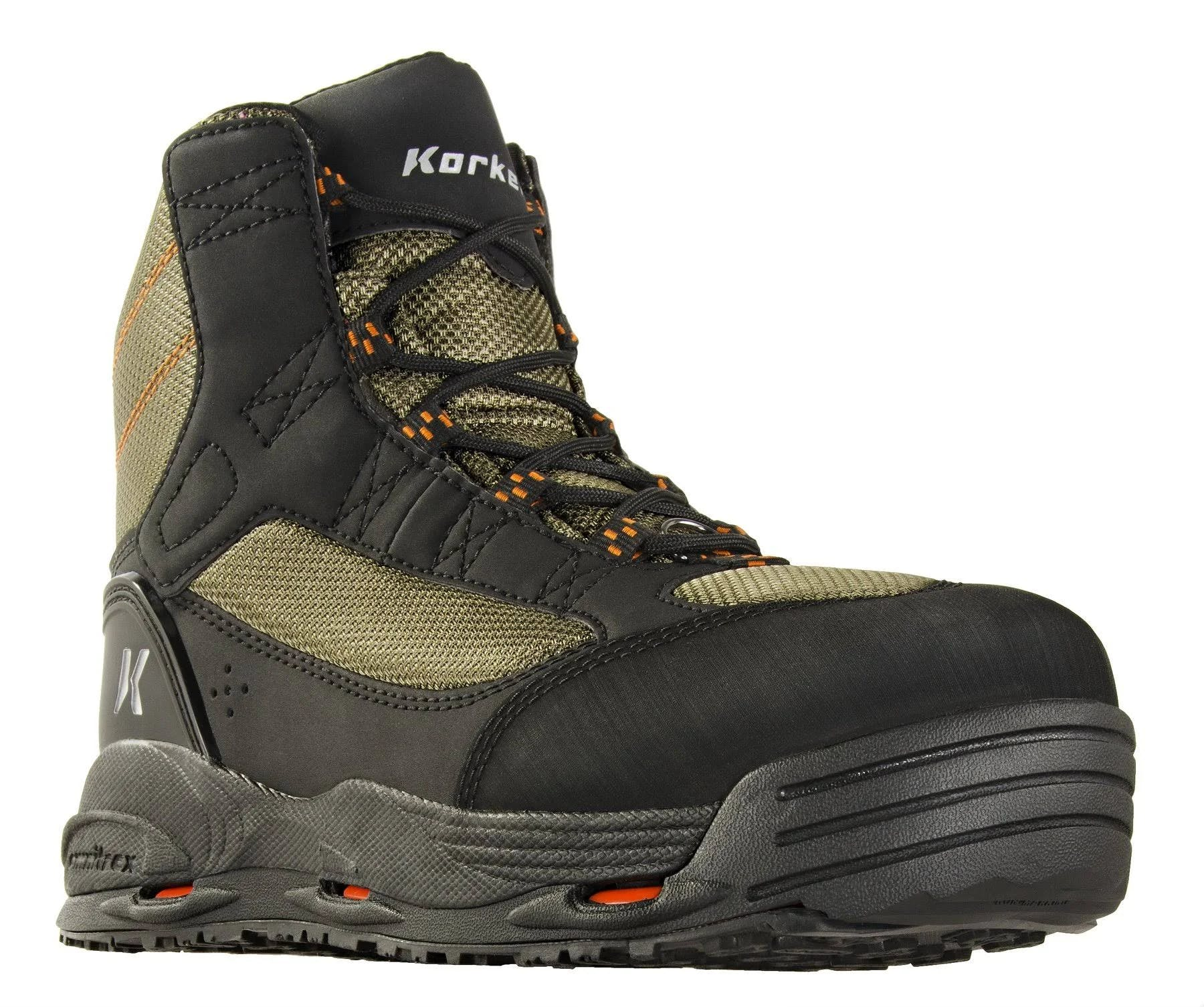 Korkers Greenback Wading Boot - Kling-On/Studded Kling-On Soles - 13